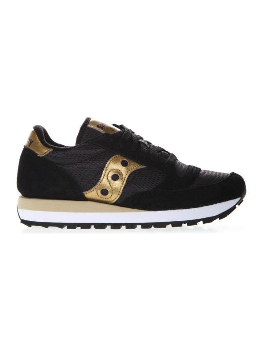 Saucony Original Jazz Black & Gold Suede & Nylon Sneaker