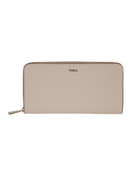 Furla Logo Zip Around Wallet