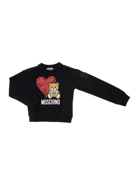 Moschino Felpa Girocollo Bear Heart