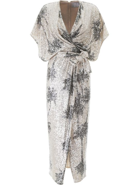 In The Mood For Love Ancens Sequined Dress With Palm Trees