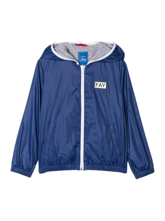 Fay Blue Hooded Jacket