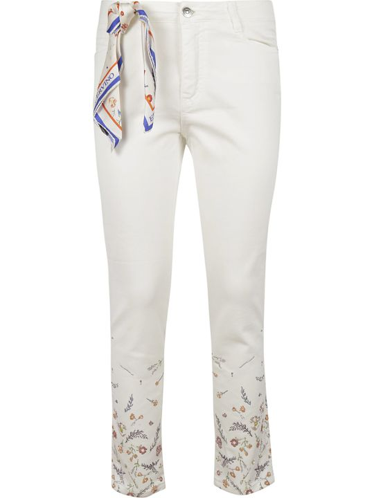 Ermanno Scervino Floral Rhinestone Embroidery Trousers