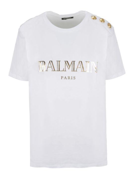 Balmain Logo Print Shirt