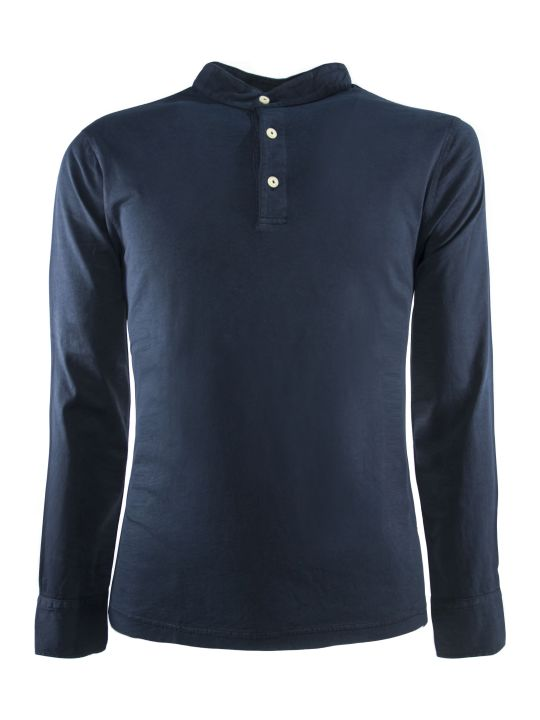 Drumohr Blue Cotton Polo Shirt