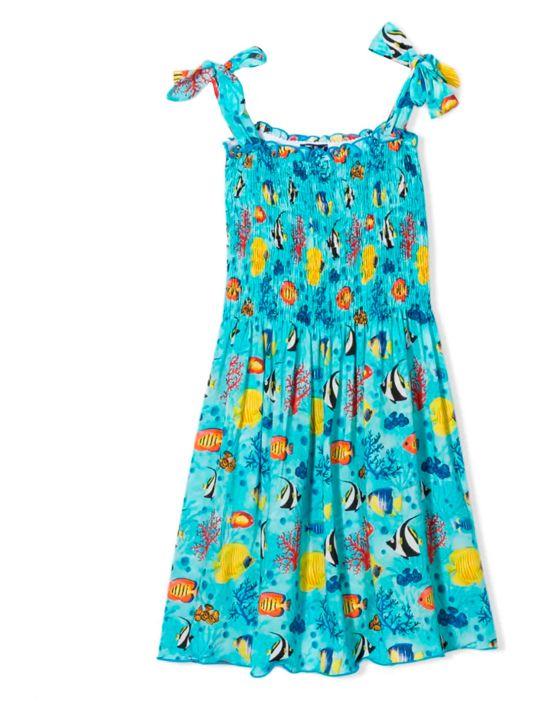MC2 Saint Barth Kids Girl Blue Dress