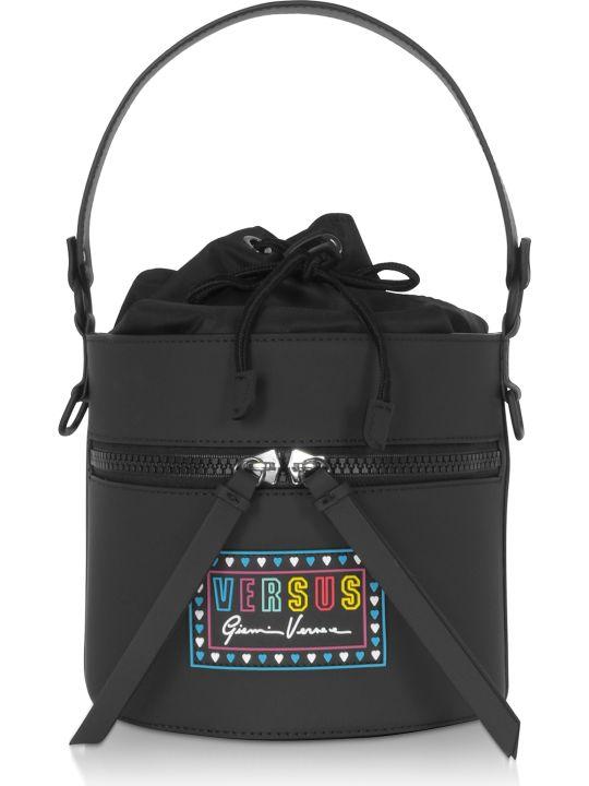 Versus Versace Versace Versus Gommato Leather And Nylon Shoulder Bag