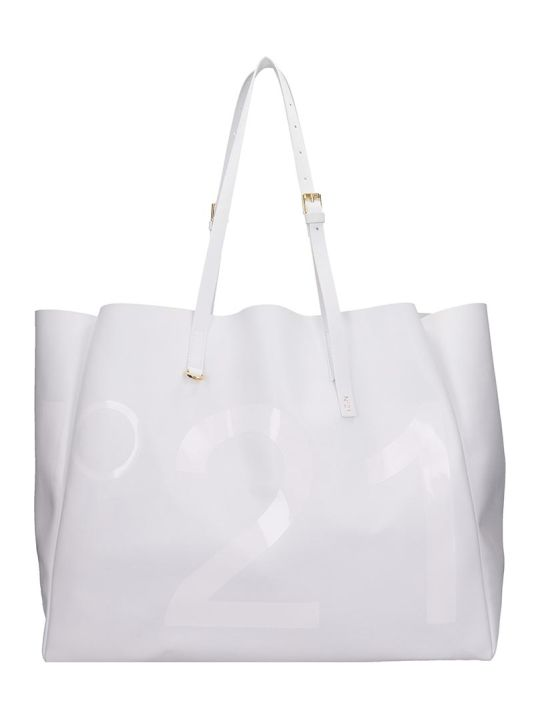 N.21 Tote In White Leather