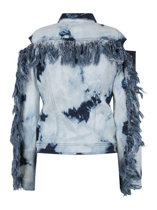 Cinzia Araia Denim Boy Jacket With Fringes