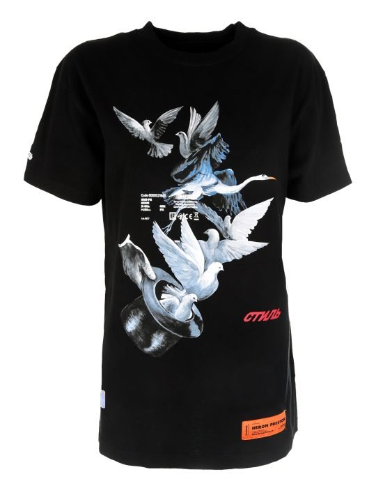 HERON PRESTON Bird Print T-shirt