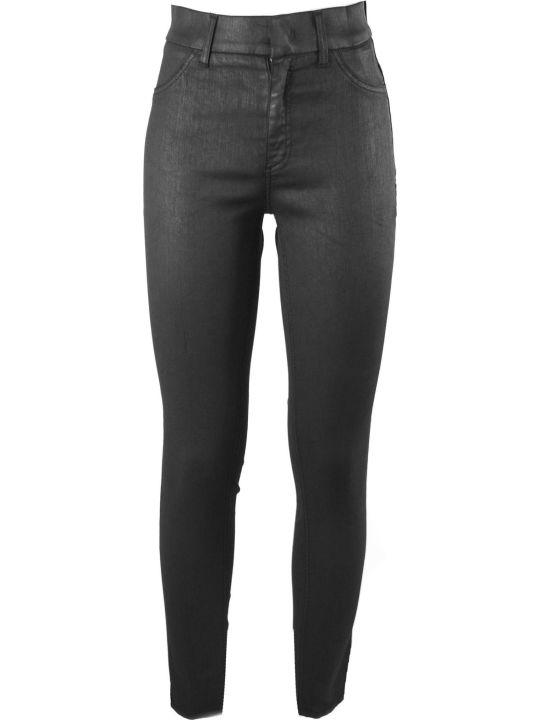 Dondup Black Cotton Blend Trousers