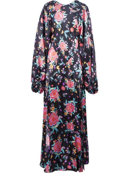 The Attico Oriental Floral Print Dress