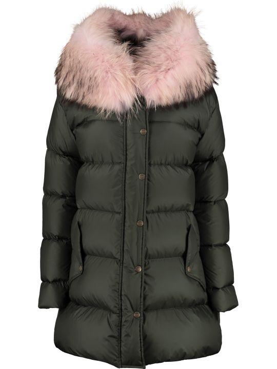Mr & Mrs Italy Fur Hood Down Jacket