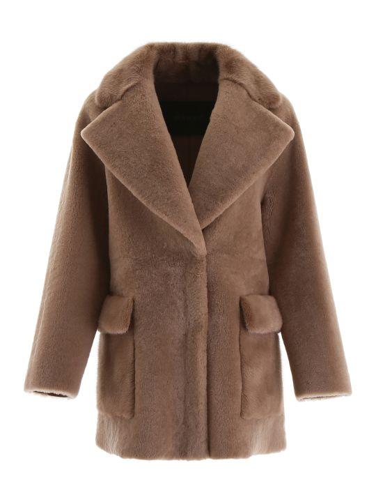 Blancha Shearling Coat With Mink Fur
