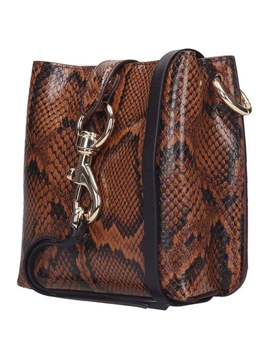 Rebecca Minkoff Mgan Shoulder Bag In Brown Leather