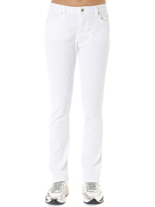 Dondup Ollie White Cotton Denim Jeans