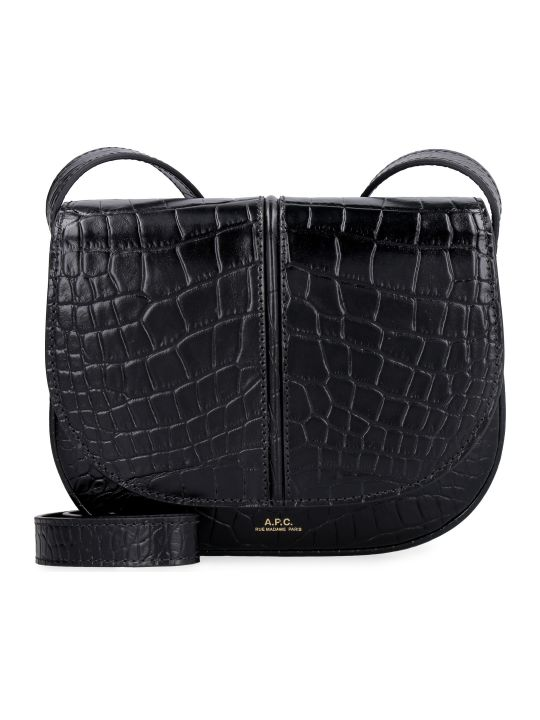 A.P.C. Betty Croco-print Leather Crossbody Bag