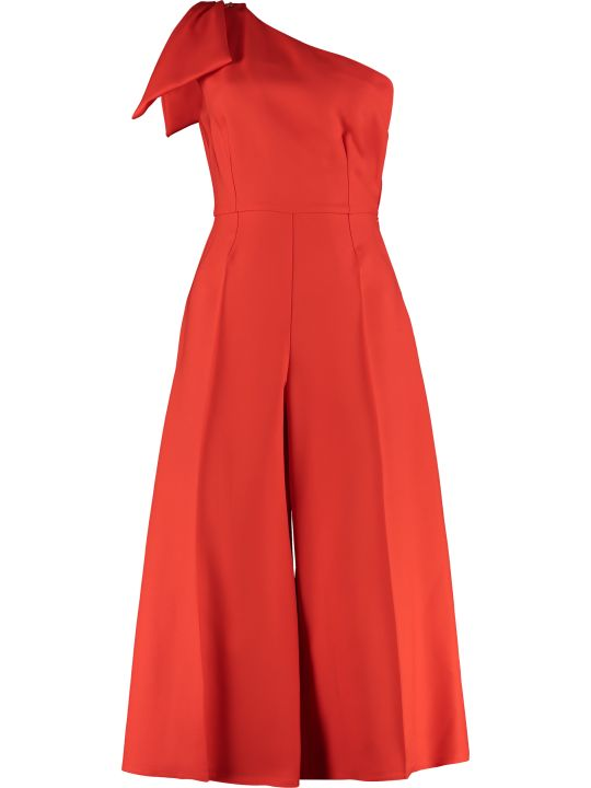 Elisabetta Franchi Celyn B. One-sleeve Jumpsuit With Bow