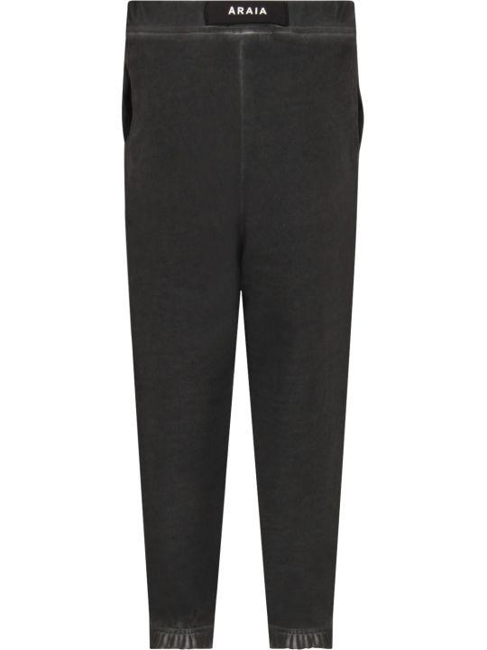Cinzia Araia Grey Boy Sweatpants With Logo