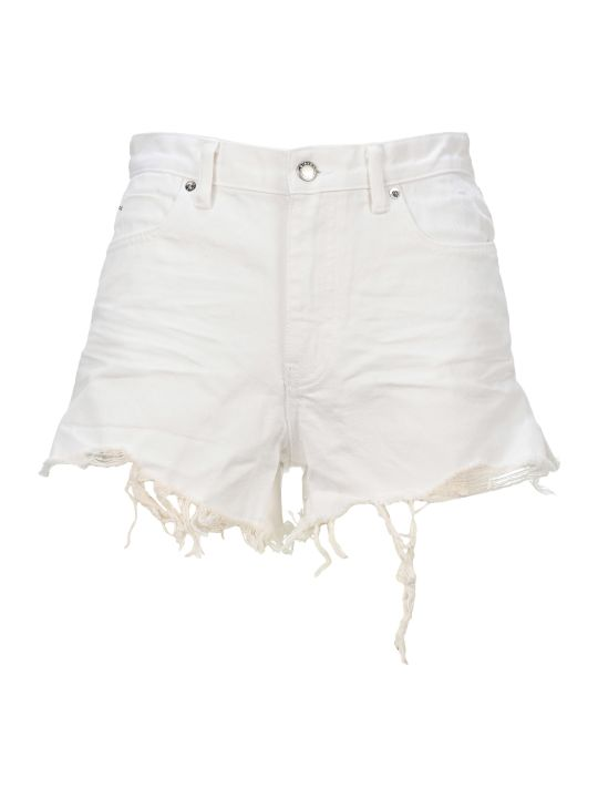 T by Alexander Wang Frayed Edges Shorts