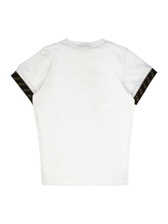 Fendi White Cotton T-shirt