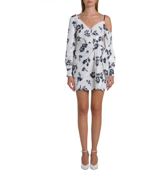 self-portrait Sequined Dress With Floral Motif