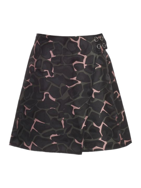 Emporio Armani Skirt A-line Camouflage