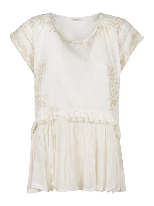 Mes Demoiselles Floral Embroidered Top