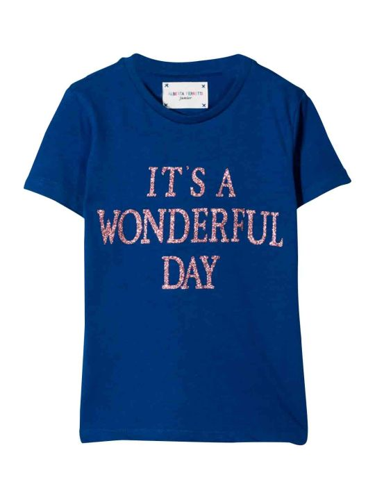 Alberta Ferretti Teen Bluette T-shirt