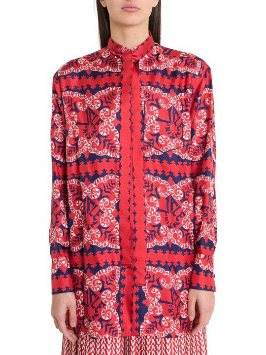 Valentino Mini Bandana Print Silk Twill Shirt