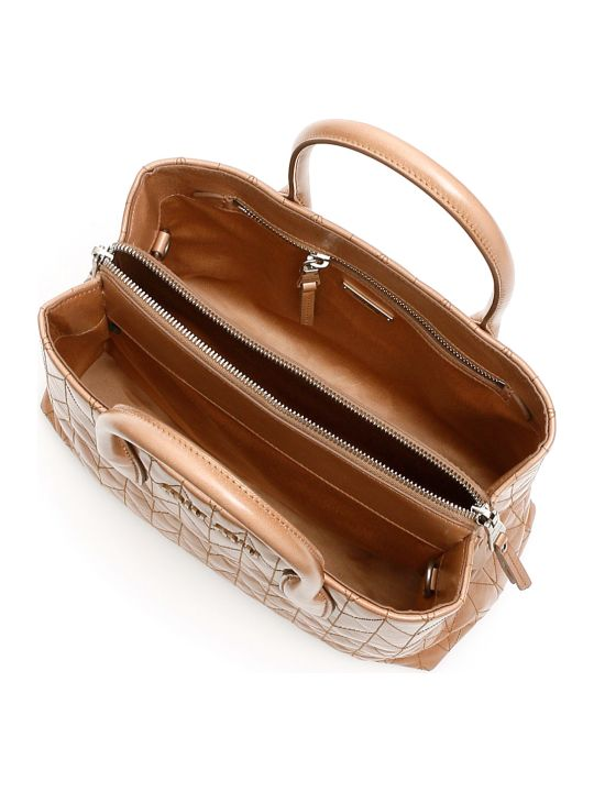 Miu Miu Quilted Shine Calfskin Tote Bag