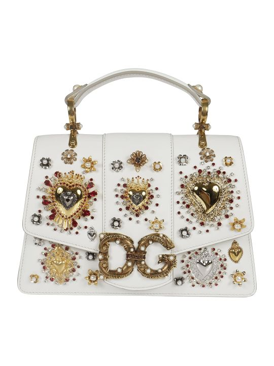 Dolce & Gabbana Heart Embellished Tote