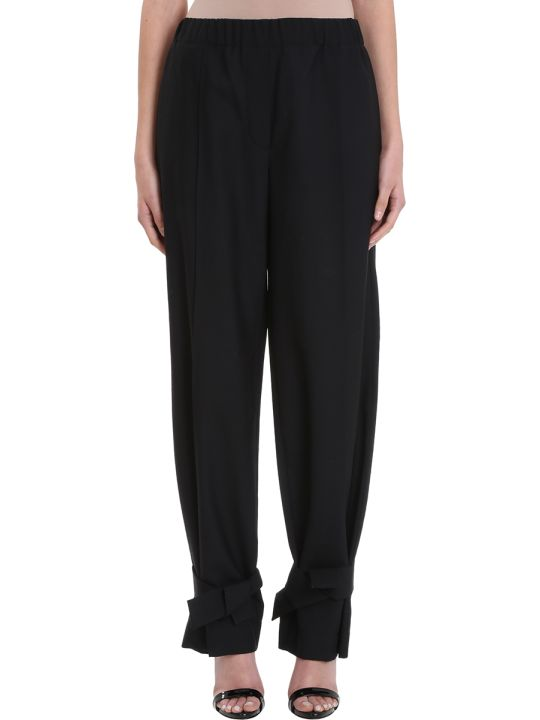 Maison Flaneur Black Wool Pants