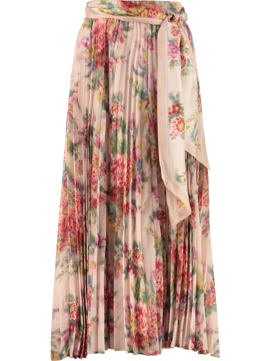 Zimmermann Printed Pleated Skirt