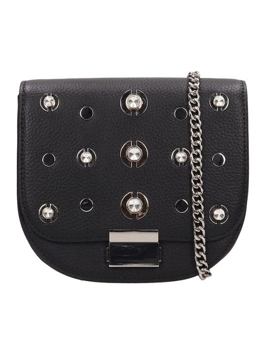 Lola Cruz Guss Black Leather Bag