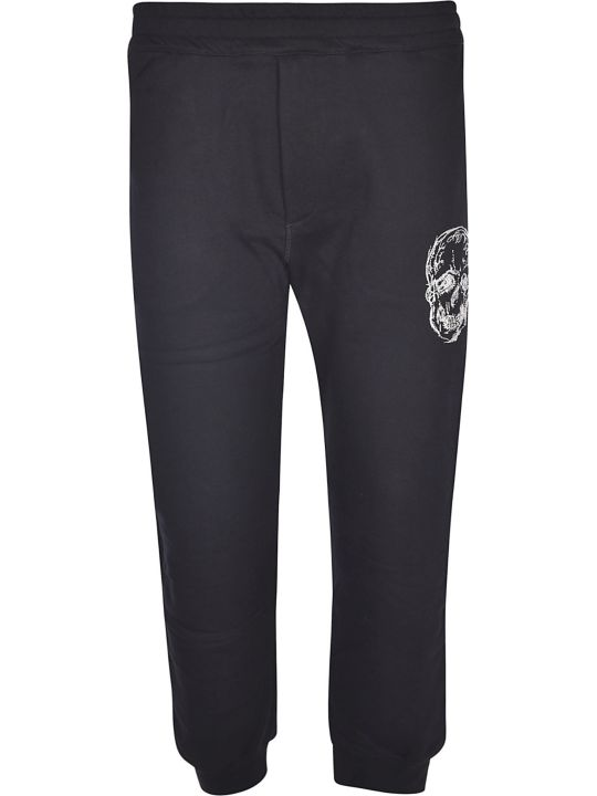 Alexander McQueen Embroidered Skull Track Pants