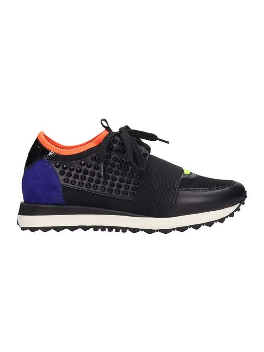 Lola Cruz Sneakers In Black Tech/synthetic