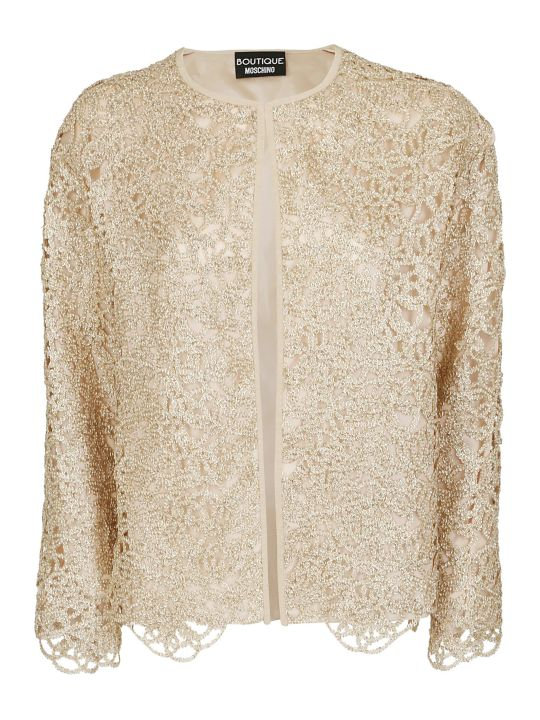 Boutique Moschino Metallic Cut Out Jacket