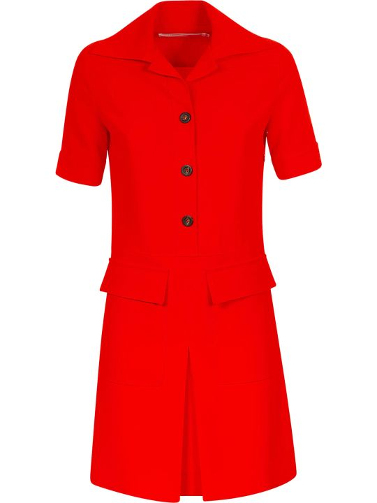 Victoria Victoria Beckham Dressed Short Sleeve Shirt Dress