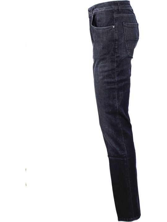 Fay Black Cotton  Jeans