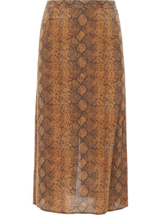 Rokh Python Print Skirt