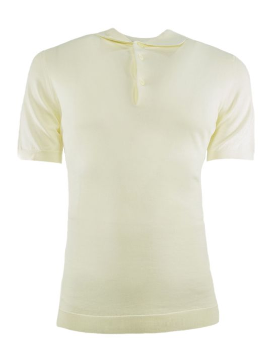 Drumohr White Cotton Polo Shirt