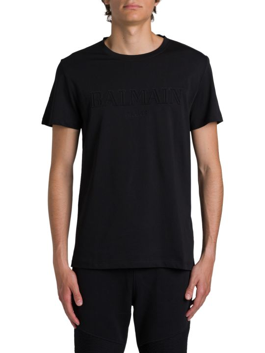Balmain T-shirt With Embossed Logo