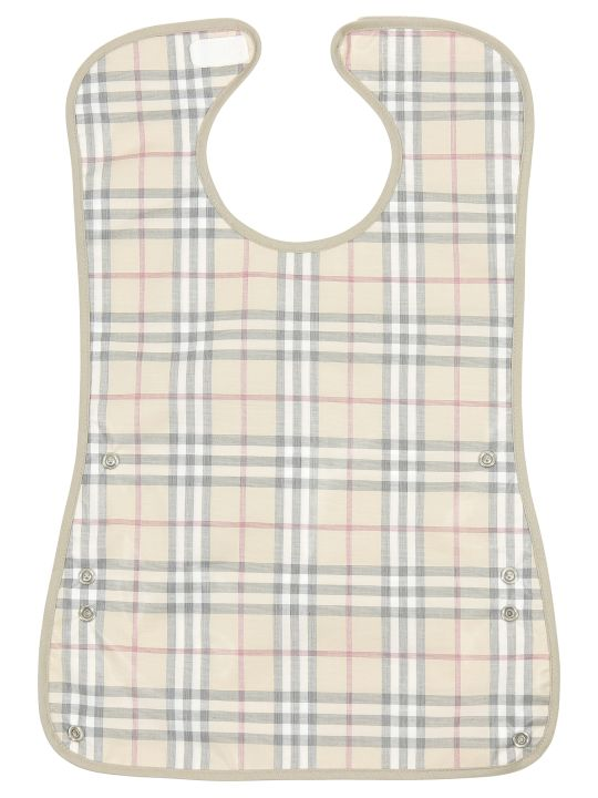 Burberry Vintage Pale Check Cotton Coated Bib
