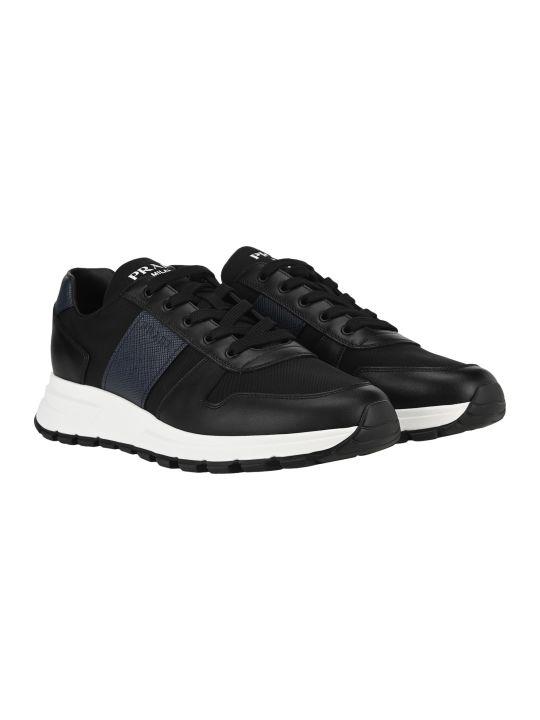 Prada Leather And Nylon Sneakers