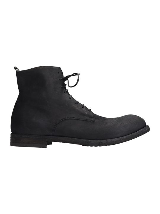 Officine Creative Arbus Ankle Boots In Black Leather