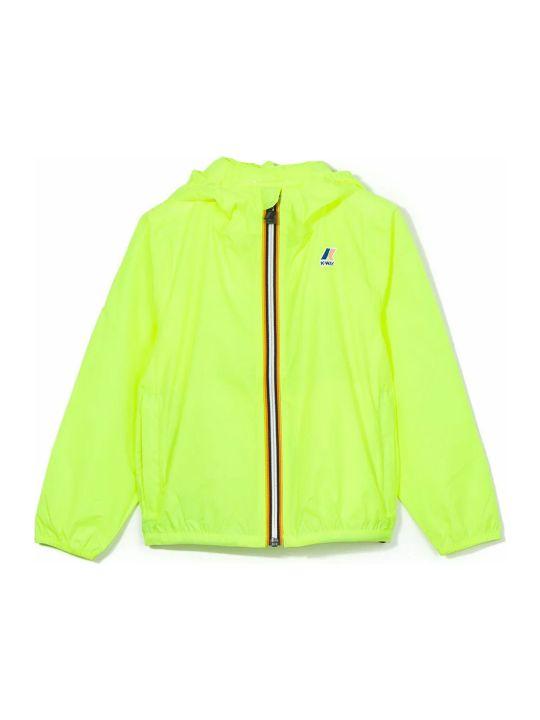 K-Way Yellow Contrast Zip Up Jacket