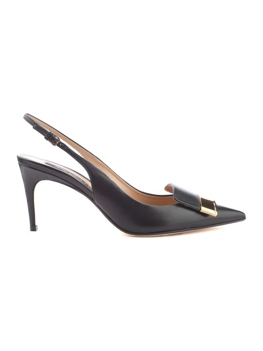Sergio Rossi Sr1 Leather Slingback Pumps