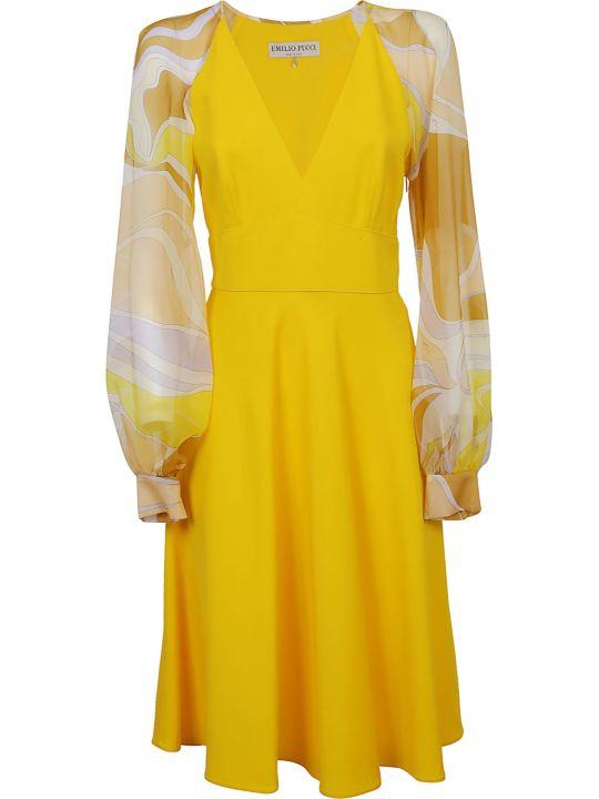 Emilio Pucci Printed Sleeve Dress