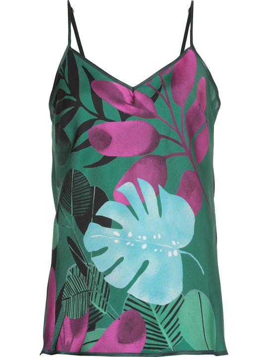 For Restless Sleepers Printed Silk Top