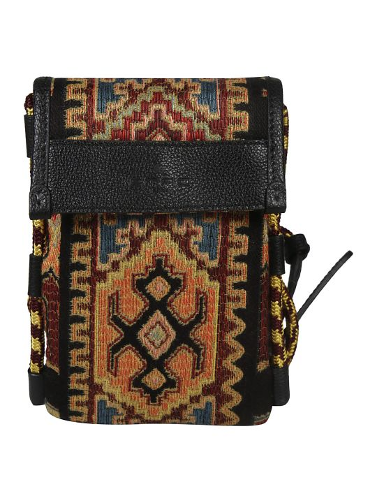 Etro Abstract Embossed Logo Shoulder Bag